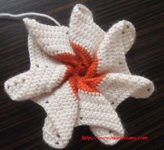 tığ işi tutacak modeli: Crochet Flower, Pots Holders, Crochet, Flower Pots, Crochet Things, Tutacak Resimlerl, Işi Tutacak, Açıklamalı Models, Tutacak Modeli
