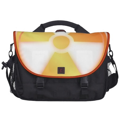 radioactive laptop commuter bag by BannedWare