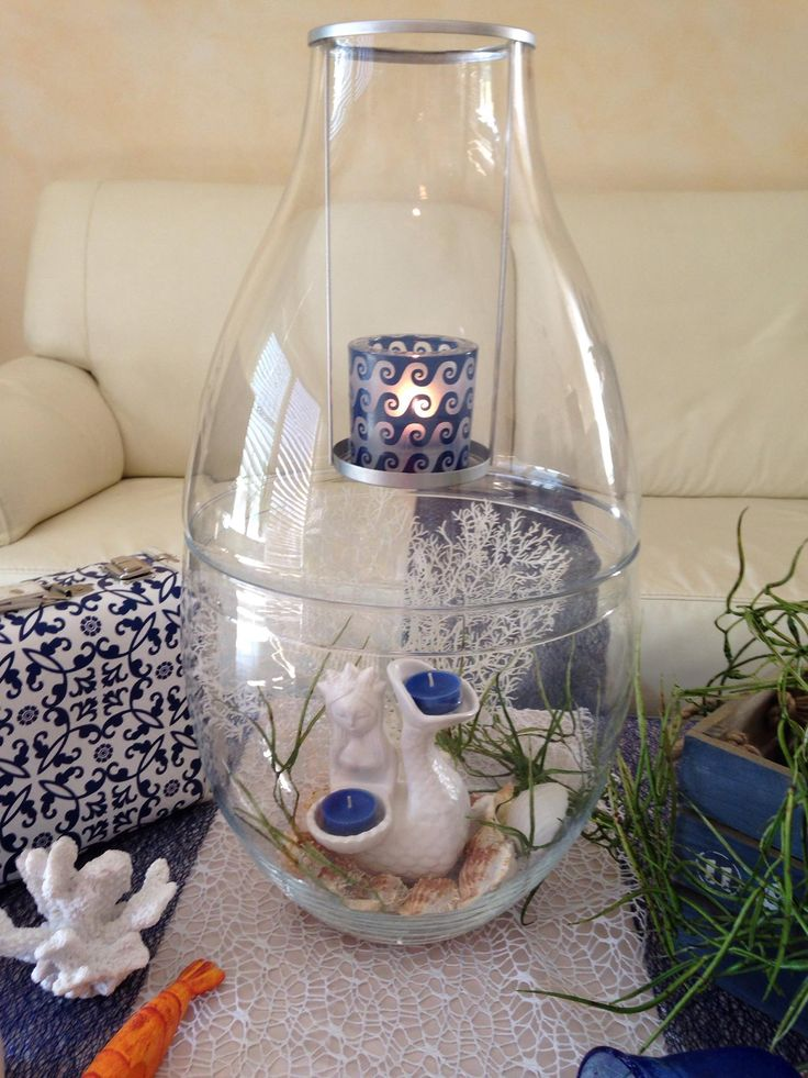 Clearly Creative Imperial Candle Hlder with Agean Waves Votive Holder Get yours at www.partylite.biz/tawnischaad #PartyLite #Candles