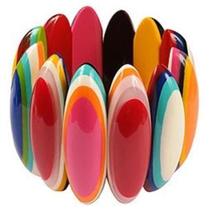 Mirabelle Fair Trade Multi Colour Oval Bracelet