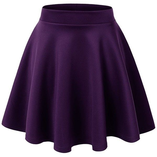 Regna X Women's Loose fit Daily Elegance purple large Flare Mini Skirt... (63 RON) ❤ liked on Polyvore featuring skirts, mini skirts, flared hem skirt, short flared skirt, short skirts, wide skirt and flared mini skirt