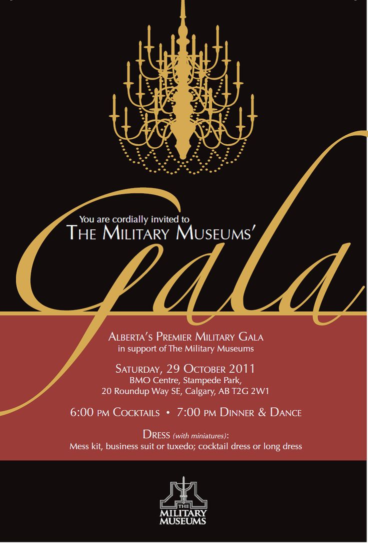 Gala Invitation minus chandelier