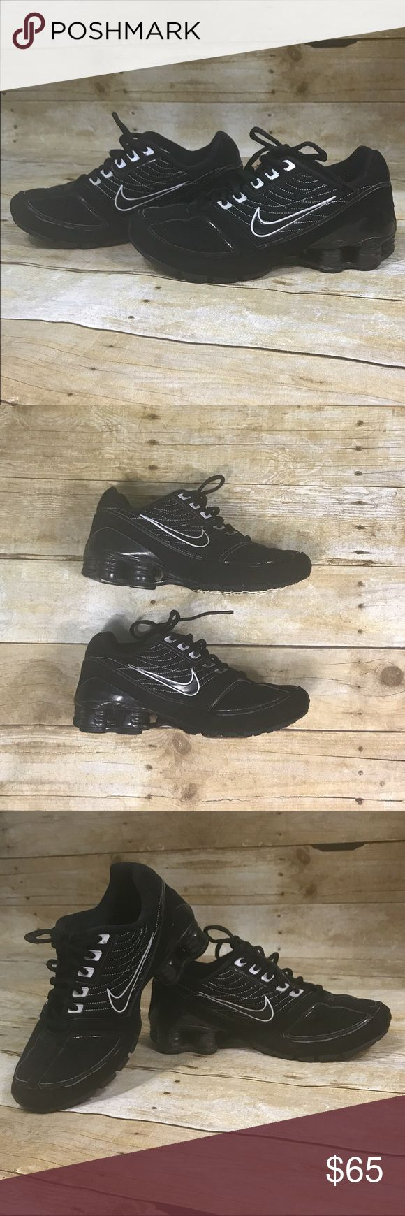 Black Nike Shocks- size 8 Black Nike Shocks Nike Shoes Sneakers