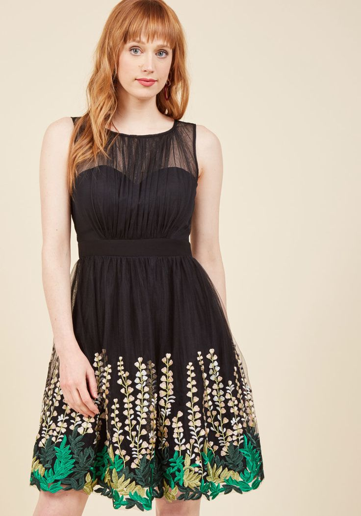 Beautifully Abloom Fit and Flare Dress