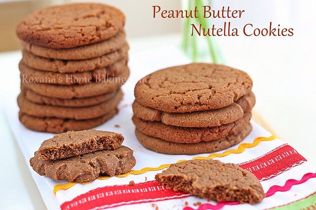 Peanut Butter Nutella Cookies #recipe #sweets