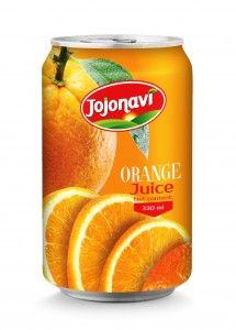 330ml Natural Orange Juice Aluminum can Supplier