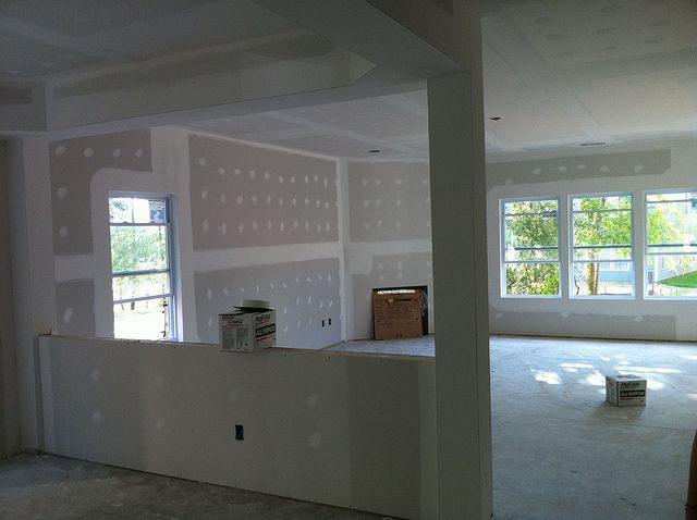 Dining Room Half Wall Into Family Room Room Divider