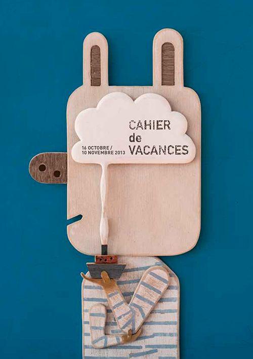 Isidro Ferrer | cahier de vacances ✭ kids activities leaflet ✭ upcycling art