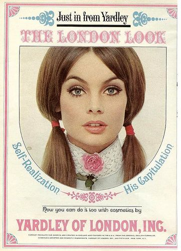 "In the '60s, every girl wanted to look like Jean Shrimpton, the ""face"" of Yardley Cosmetics. Of all the fashion trends I've experienced, the London Look remains a top favorite of mine."