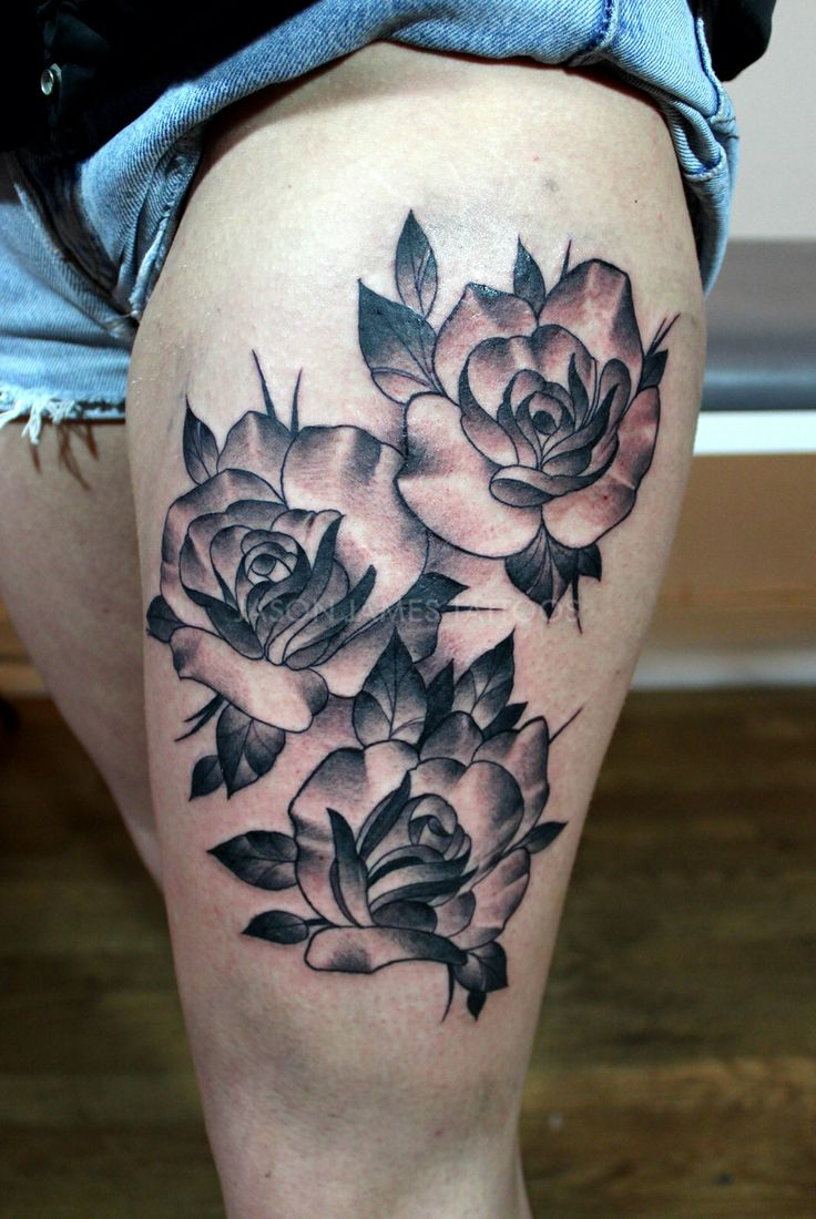 Neo traditional roses tattoo by jason james neo for Neo traditional rose tattoo