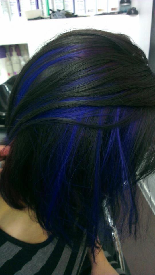 25 Best Ideas About Blue Hair Streaks On Pinterest Blue