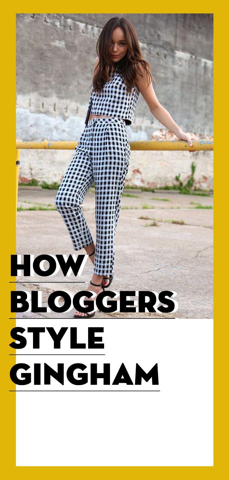 bloggers style How bloggers style gingham... 440566ba8bcfa7fb36f1e486702a2789