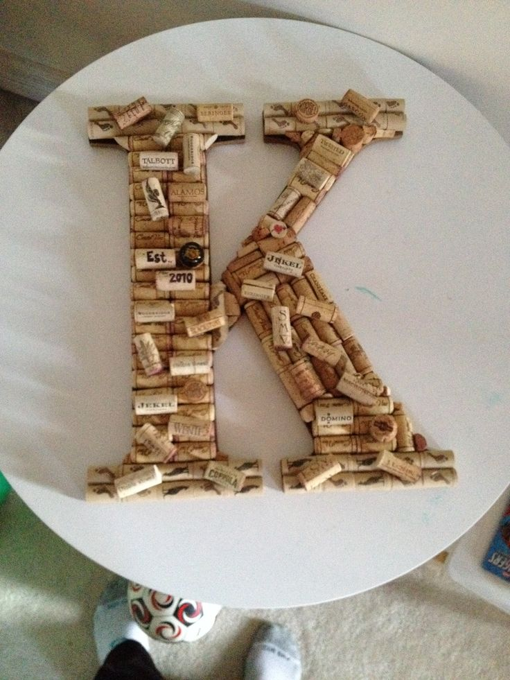 "Wine cork letter ""K""!"
