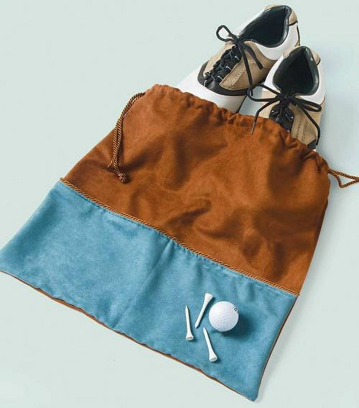 Golf Shoe Bag | DIY Golf Bag for Father's Day from @Jo-Ann Fabric and Craft Stores