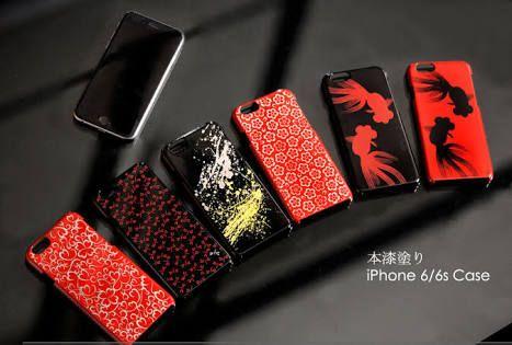 漆塗りのiPhoneケース。様々な種類のiPhoneケースが存在する中、漆塗りで高級感のあるケースはなかなかない、一度使ってみたい。