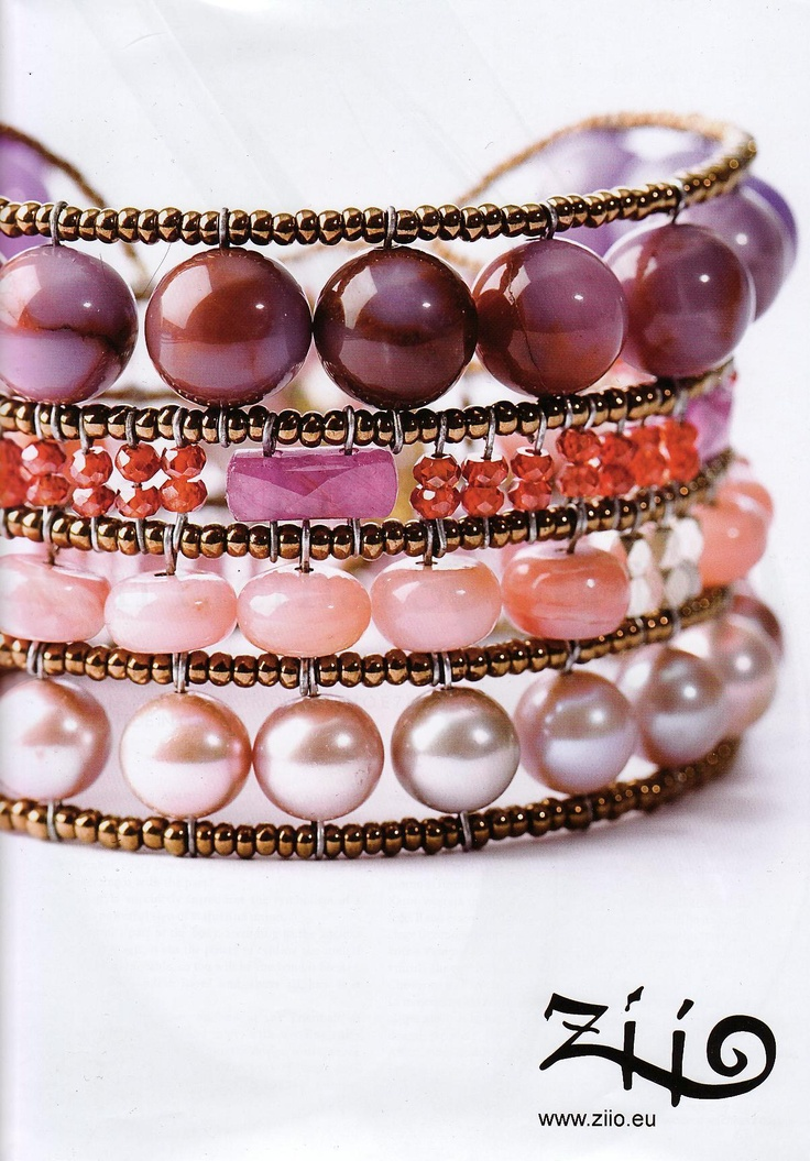 Another one of my favorites: Pink and purple cuff bracelet. Ziio