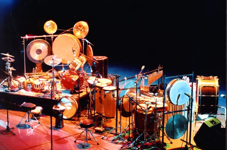 Bill Bruford Drum Set | The stage The People