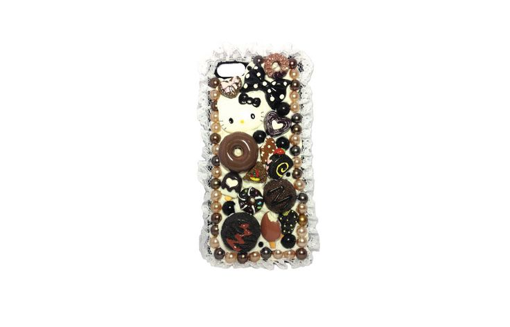 Kitty Cat Dreamy Creamy Chocolate Crumble case for iPhone 5/5s (Ready to be shipped) by PepperAndSoda on Etsy