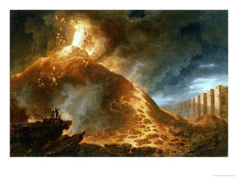 The Eruption of Vesuvius, 1768 Print by Francesco Fidanza at AllPosters.com
