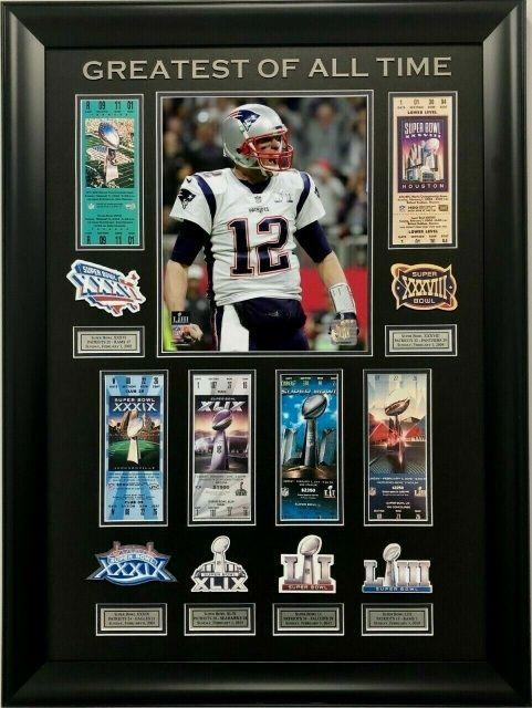 bb43f840 New England Patriots Custom Tom Brady GOAT Super Bowl 53-6X CHAMP WALL  DISPLAY #patriots #newengland #newenglandpatriots #football #dynasty # tombrady ...