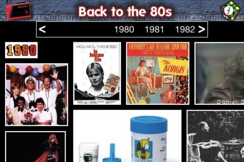 Retour dans les années 80, les années Top 50. L'application Ipad pour une immersion temporelle 80'.