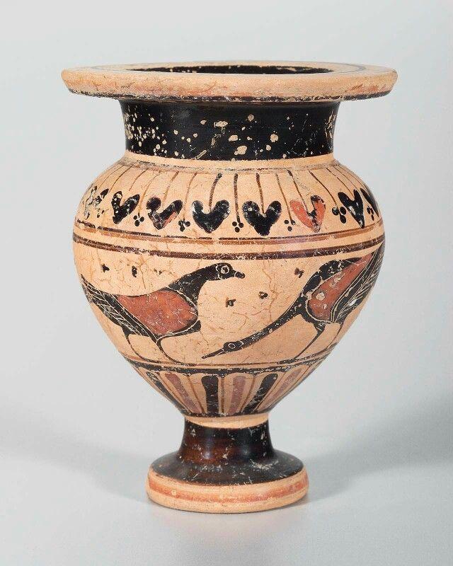 Ceramic black-figure lydion. Greek. Archaic Period, c. 540–530 B.C. | Museum of Fine Arts, Boston