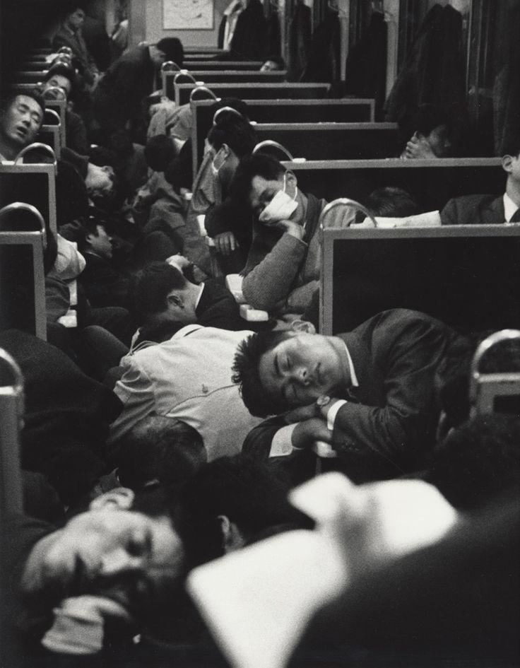 Tren nocturno japonés.