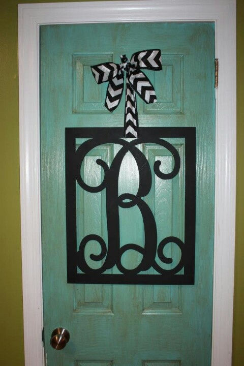 metal monogram letter  you can paint these  sand down and repaint as many times as you u0026 39 d like