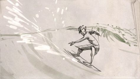 Picked up TVPaint software and wanted to do a little test to see if I liked it so I animated a surfer.