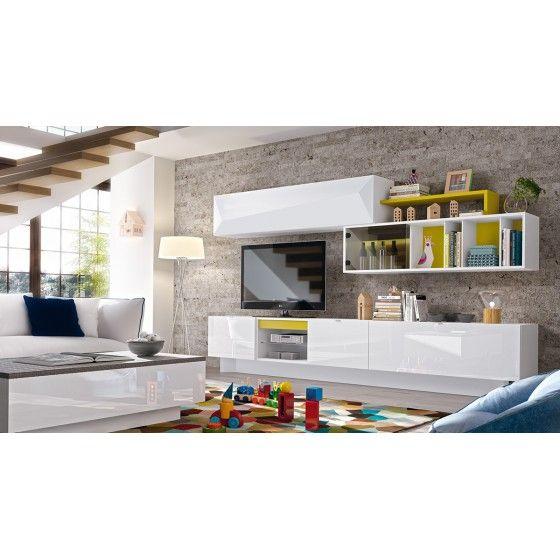 25 best ideas about meuble tv mural on pinterest meuble for Meuble mural wenge