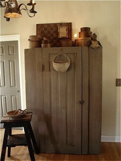 Cupboard ~ I Just Love This. Had To Pin It Just For An Idea.