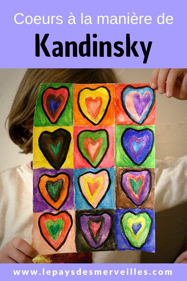 Coeurs A L Aquarelle A La Maniere De Vassily Kandinsky Kandinsky