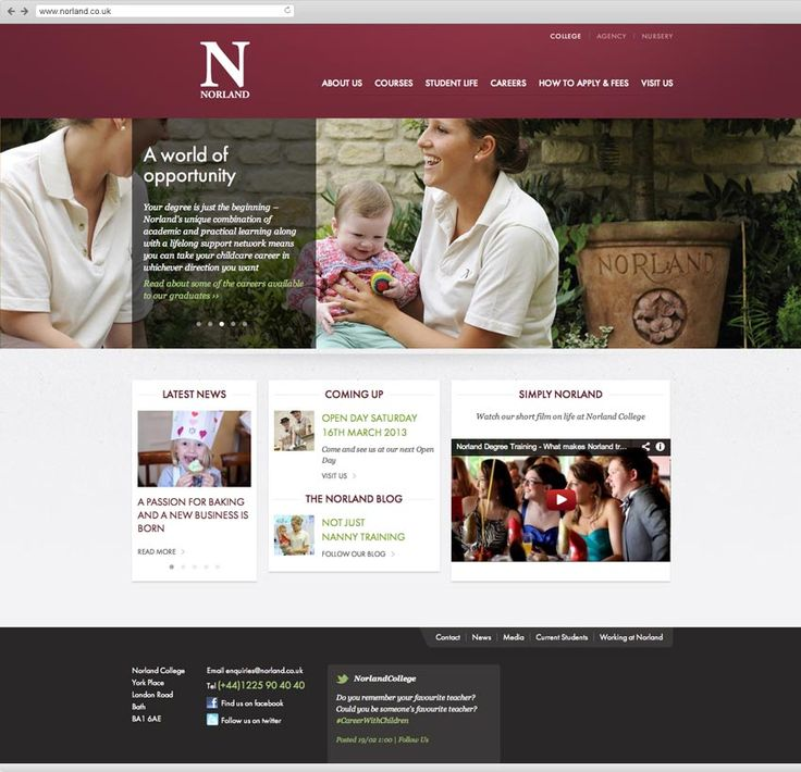Norland College and Agency screenshot