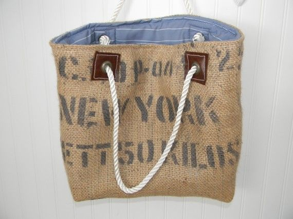 recycled burlap bag