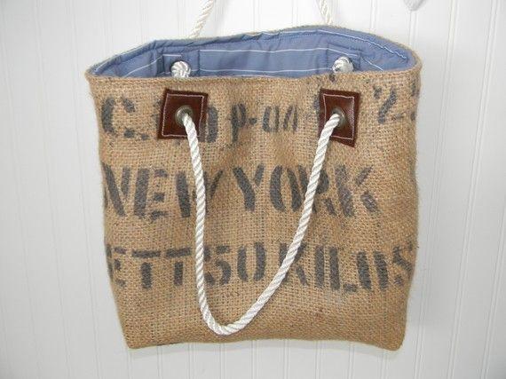 recycled burlap bag