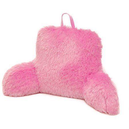 Formula Longhair Faux Fur Backrest Pillow, Pink