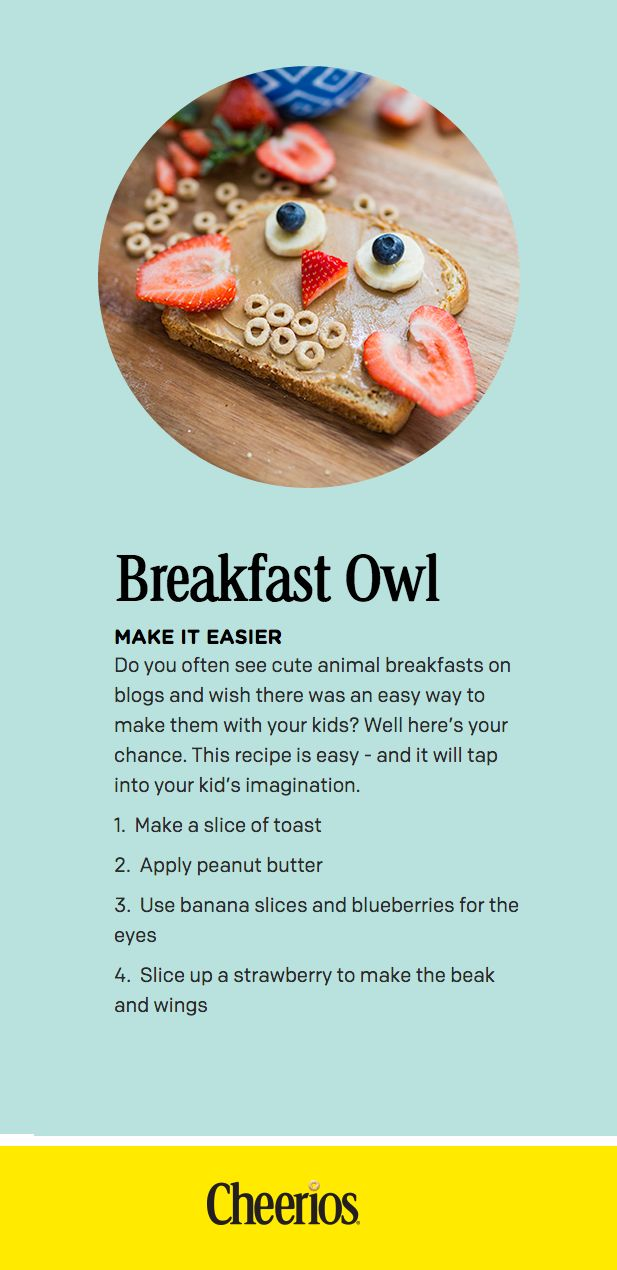5 Ways You Can Connect with Your Kids Tomorrow Morning #FamilyBreakfast #ad #Cheerios *great list of ideas. love #2 & this simple breakfast owl recipe