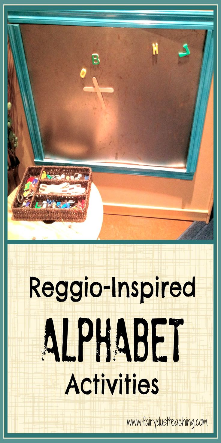 Find creative reggio-inspired alphabet activities at Fairy Dust Teaching.li