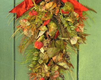 Fall Wreath, Tahoe Natural - Rustic Fall Leaf, Cone and Pine Swag, Thanksgiving Wreath,Pine Wreath, Autunm Wreath,Harvest Decor,Thanksgiving