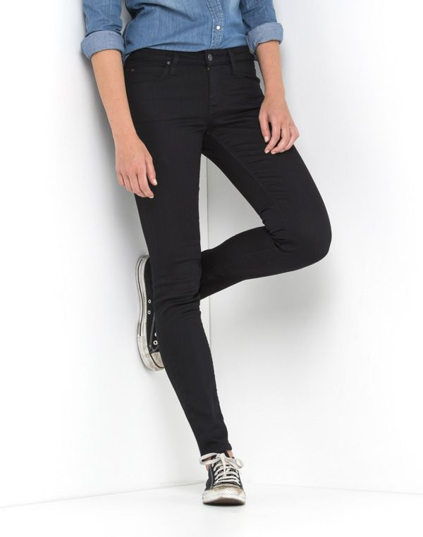 Scarlett Regular Waist Skinny | Black