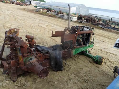 John Deere 6400 tractor salvaged for used parts. This unit is available at All States Ag Parts in Downing, WI. Call 877-530-1010 parts. Unit ID#: EQ-24427. The photo depicts the equipment in the condition it arrived at our salvage yard. Parts shown may or may not still be available. http://www.TractorPartsASAP.com
