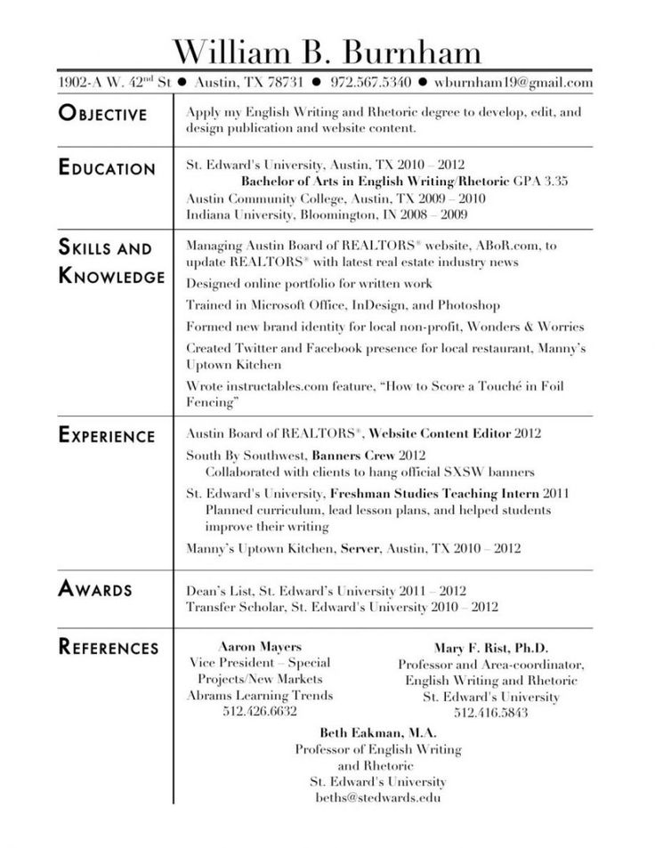 Sample Resumes 2012 | Sample Resume And Free Resume Templates