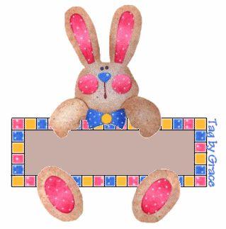 Gifs animados de Huevos, Conejos y Muñequitos de Pascua.