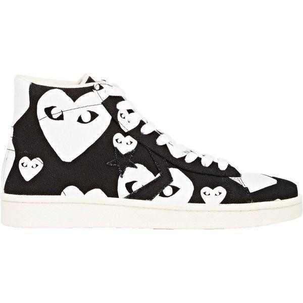 d3980ec02418 Comme des Garçons PLAY Men s Heart-Print Pro Sneakers ( 140) ❤ liked on  Polyvore featuring men s fashion