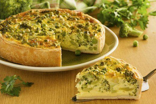 Tarta de brócoli y queso - Cocina - REVISTA PRONTO - www.pronto.com.ar