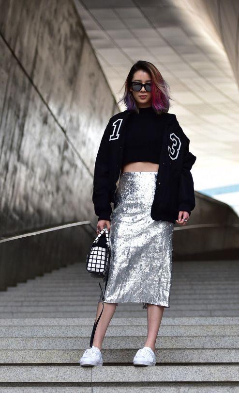Street Style: Irene Kim at Seoul Fashion Week Fall 2015 shot by Baek Seung Won