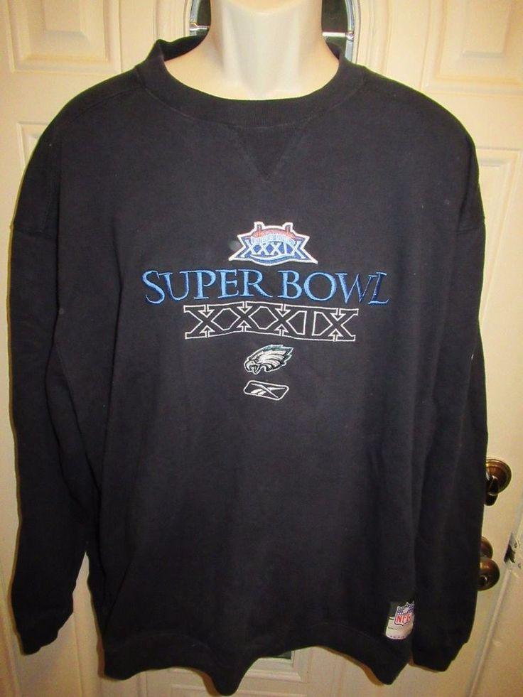 RARE Reebok NFC PHILADELPHIA EAGLES On-Field XL Sweatshirt SUPER BOWL XXXIX  #Reebok #PhiladelphiaEagles
