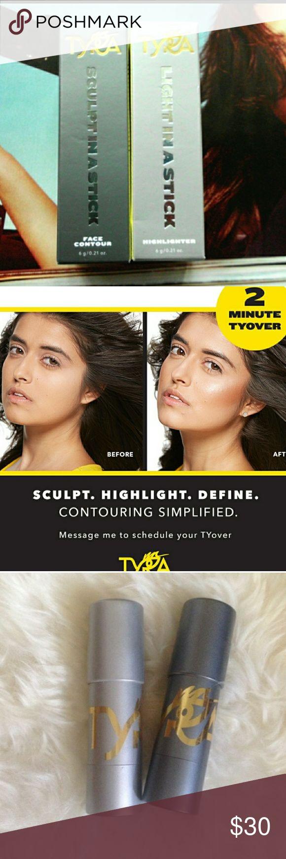 NIB Tyra Banks Makeup NEVER EVEN OPENED ITS A 2 MINUTE TYOVER MAKEUP SET. THE COLOR IS DEEP AND SINSATIONAL CITY. tyra banks Makeup