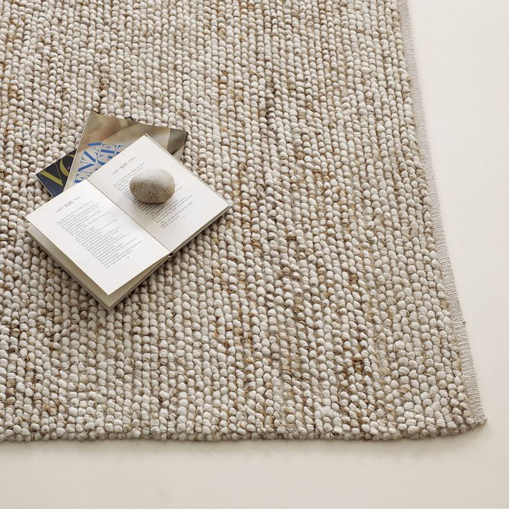 Mini Pebble Wool Jute Rug - Natural/ Ivory