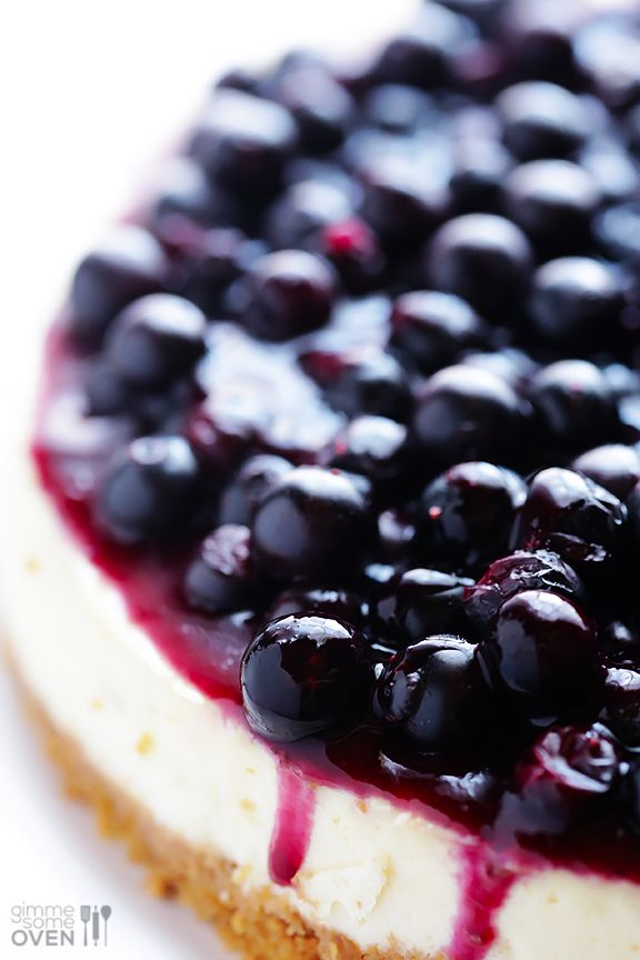 Lighter Blueberry Cheesecake  Recipe  Blueberry cheesecake ...
